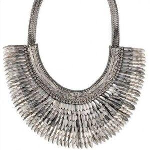 NIB Stella & Dot Pegasus Necklace; Silver
